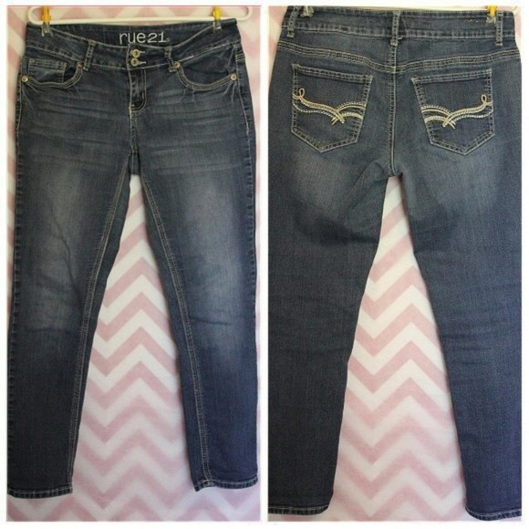 Rue21 Denim - Rue 21 Medium Wash Skinny Jeans Size 9-10